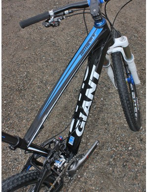 The top tube is moderately oversized but the down tube is simply enormous