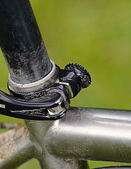 Whyte's Get A Grip seatpost lock seals the seat tube, but can catch on baggy shorts at just the wrong moment