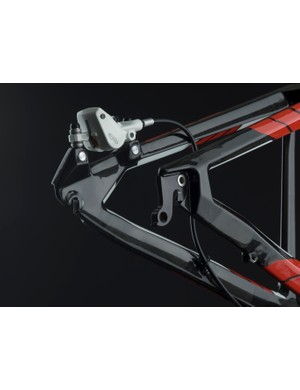 Carbon dropouts help the new FS01 achieve its feathery 1.88kg (4.14lb) claimed weight for a large-sized frame with rear shock.