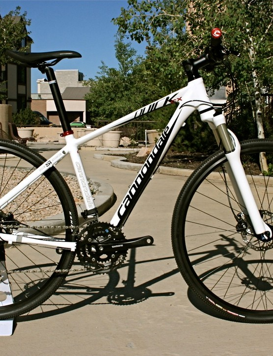 The Cannondale Quick CX FS, with front suspension
