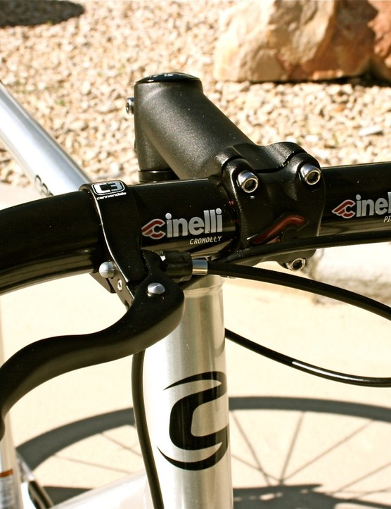 Cinelli stem, bars, post and saddle round out the component spec