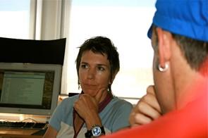 A new lot in life for retired downhill racer Marla Streb: desk jockey!