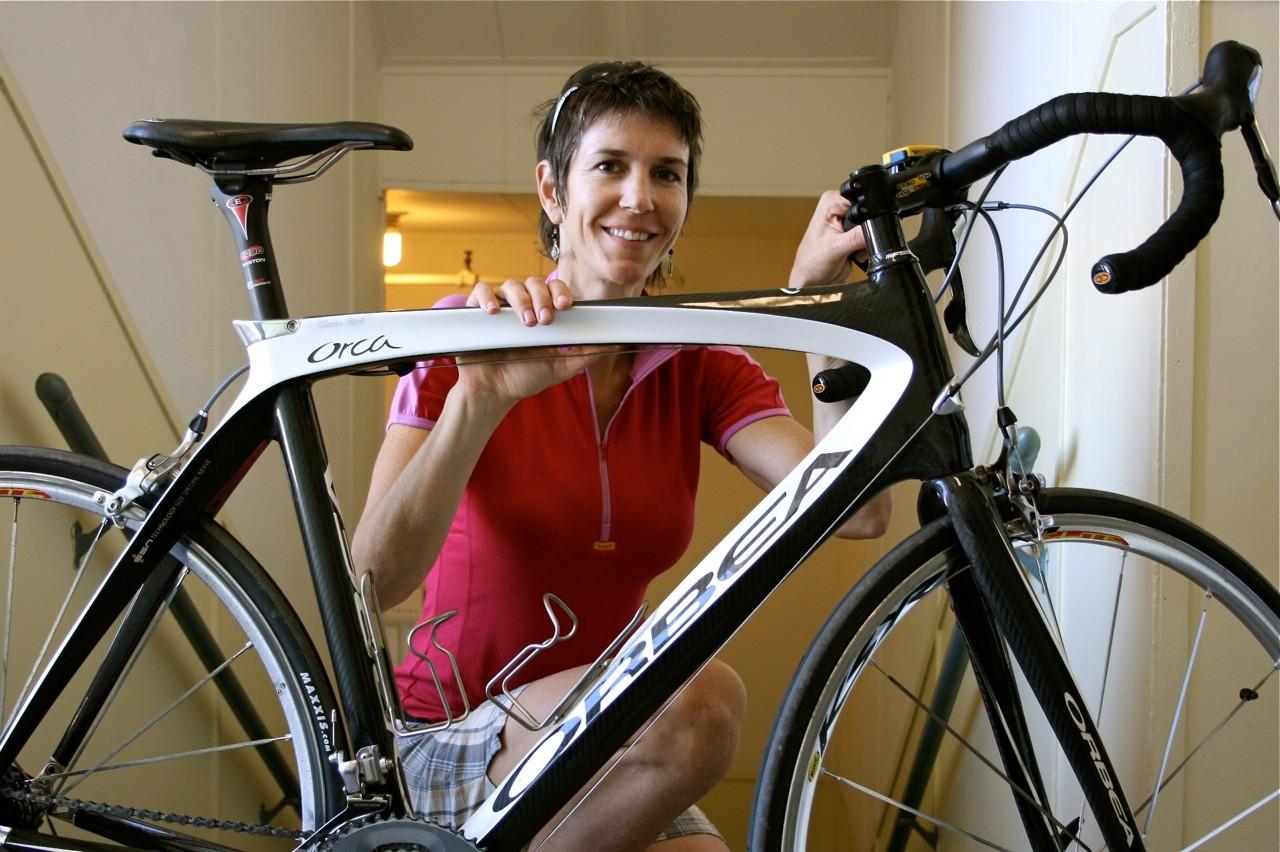 Marla Streb, retired Luna Chix racer, two-time singlespeed world champion and new Luna Chix team and gear evangelist
