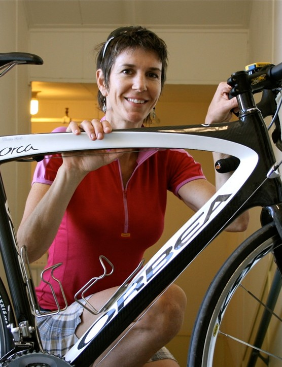 Marla Streb, retired Luna Chix racer, two-time singlespeed world champion and new Luna Chix team and gear evangelist