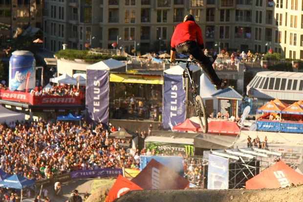 Sweet mother of pearl! A bird's eye view from Crankworx 2008.