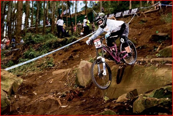 Sabrina Jonnier has been ripping up the World Cup on her Flatline WC.