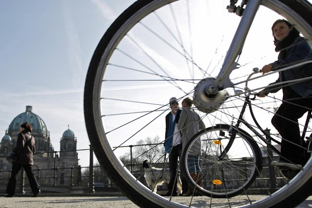 Cycle commuting has become trendy in Berlin