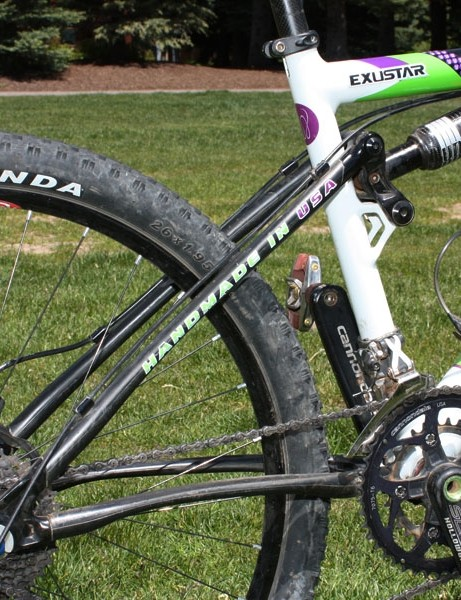 Carbon fibre front and rear triangles help keep the weight down on the Cannondale Scalpel frame