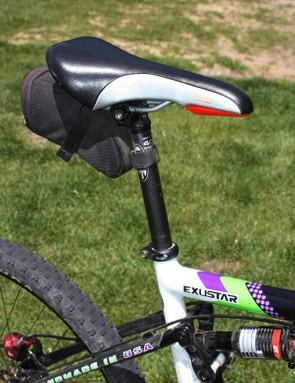 The Fizik Dolomiti saddle provides some needed extra cushioning over more sparsely padded ultralights