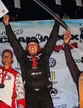 Men's Dual Slalom podium