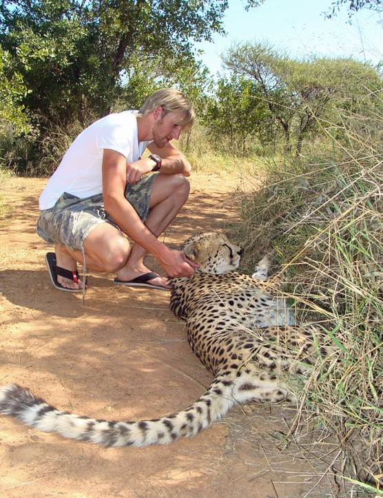 Luke meets the local wildlife in South Africa