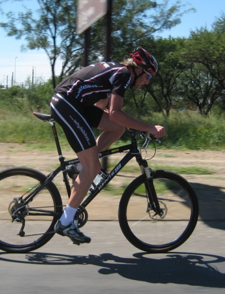 Whyte racer Luke Smith surprised the locals when he won a South African road race on his hardtail mountain bike