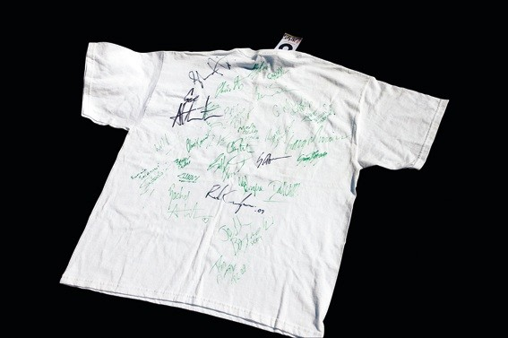 All those signatures - lovely