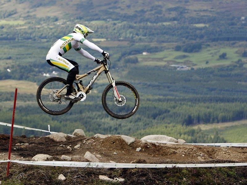 Australian downhill rider Mitch Delfs