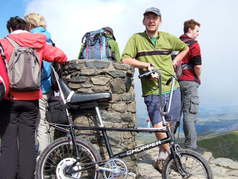 Dean and the Chopper reach the summit of Snowdon