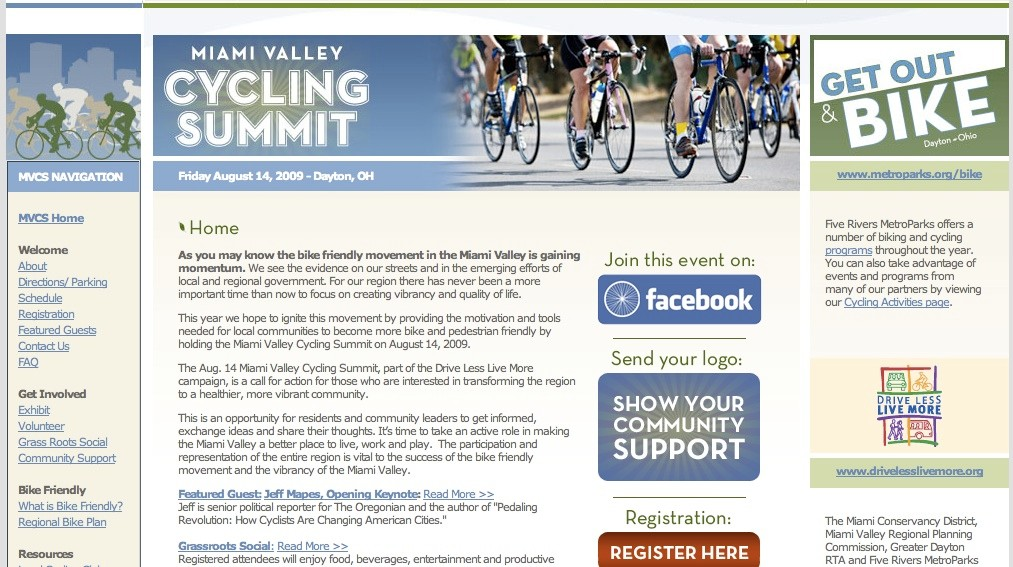 The first annual Miami Valley Cycling Summit will be held in Dayton, Ohio August 14.