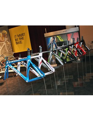 Trek's Equinox TTX and Equinox TTX SSL time trial/triathlon frames are also available in Project One paint schemes.