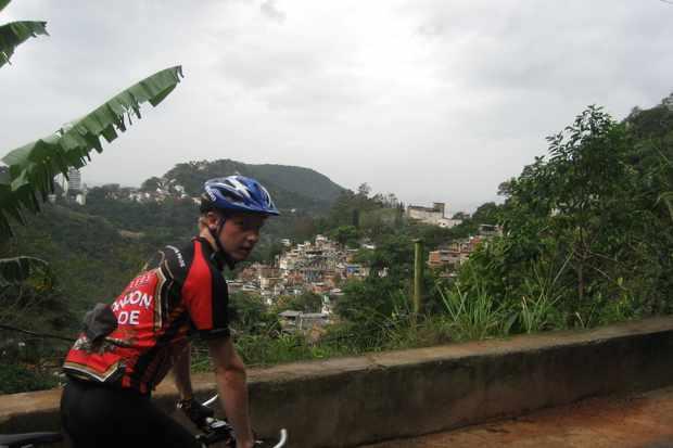 James Gozney before embarking on the Vuelta Sudamericana