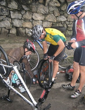 Early punctures bring proceedings to a temporary halt
