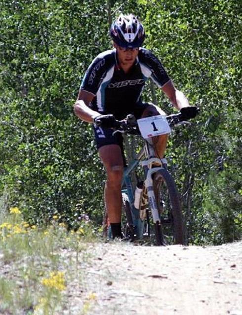 Dave Wiens, leading Leadville 100 in 2007.