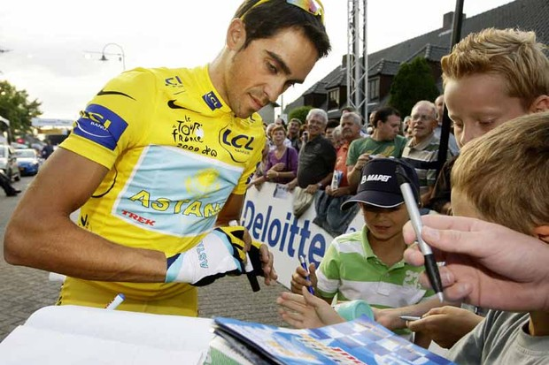 Alberto Contador is signed with Astana until the end of 2010, but will he try to leave?
