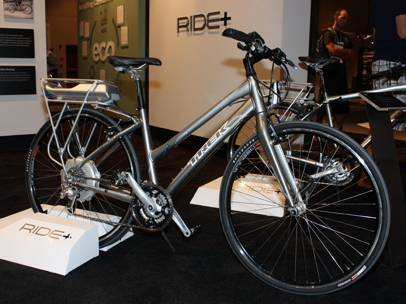 Trek's new Ride+ line features a motorised pedal-assist system from BionX. 20mph has never come so easily