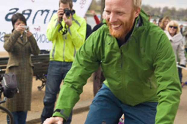 Lance Armstrong has helped raise the profile of round-the-world cyclist James Bowthorpe