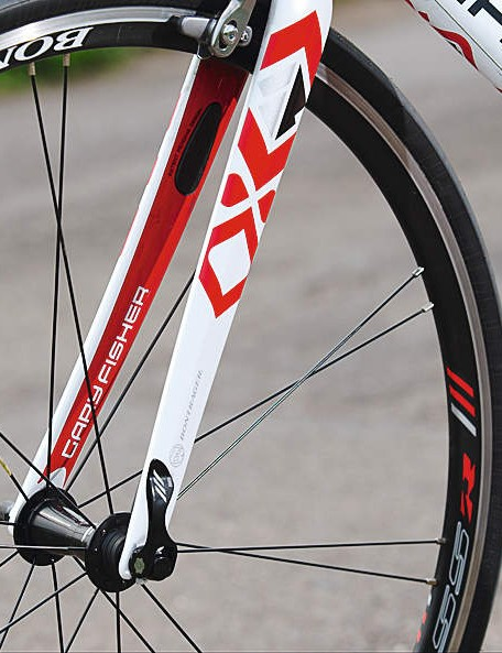 Twinned-spoke Bontrager wheels are light and tight