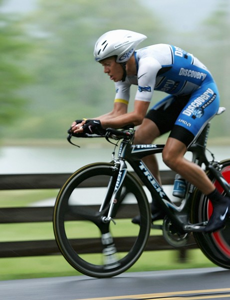 Tom Danielson rides in the individual time trial during the 2005 Tour de Georgia