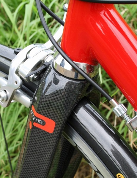 A zip-tie fastens the Crud Roadracer mudguards under your brakes