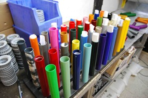 Colourful sights, on tube samples and frames.