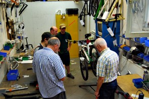 Customers are shown how to maintain and tweak their rides