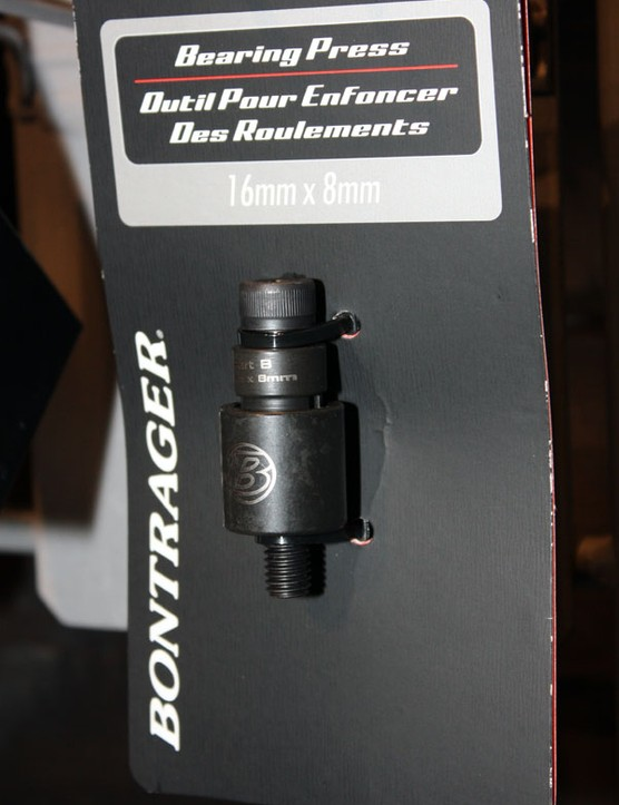 Mechanics who regularly service Trek-branded full-suspension bikes might find some use for Bontrager's various bearing presses