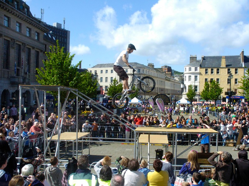Scottish trials rider Danny MacAskill is helping to get his countrymen on their bikes