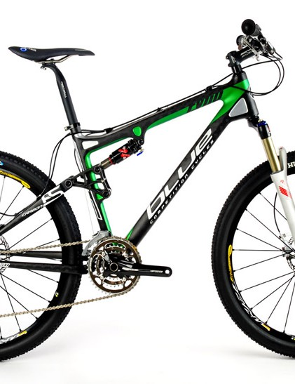 Blue Competition Cycles Ryno Carbon mountain bike