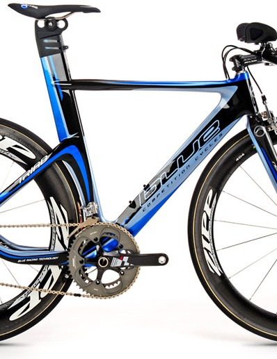 Blue Competition Cycles Triad time trial bike