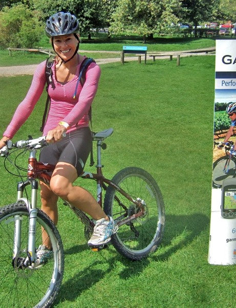 Clare Brockett, one of the competitors in the Garmin MTB Day at Queen Elizabeth Park