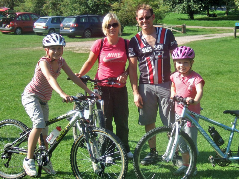 Brian Davy and family enjoy the Garmin MTB Day at Queen Elizabeth Park in Hampshire