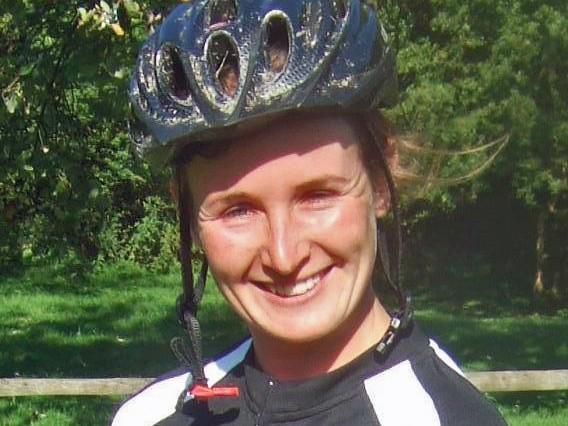 Natasha Litherland, winner of the Garmin MTB Day at Queen Elizabeth Park in Hampshire