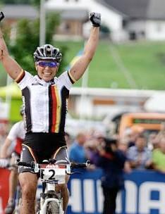 Sabine Spitz won the women's elite race August 23, 2009.