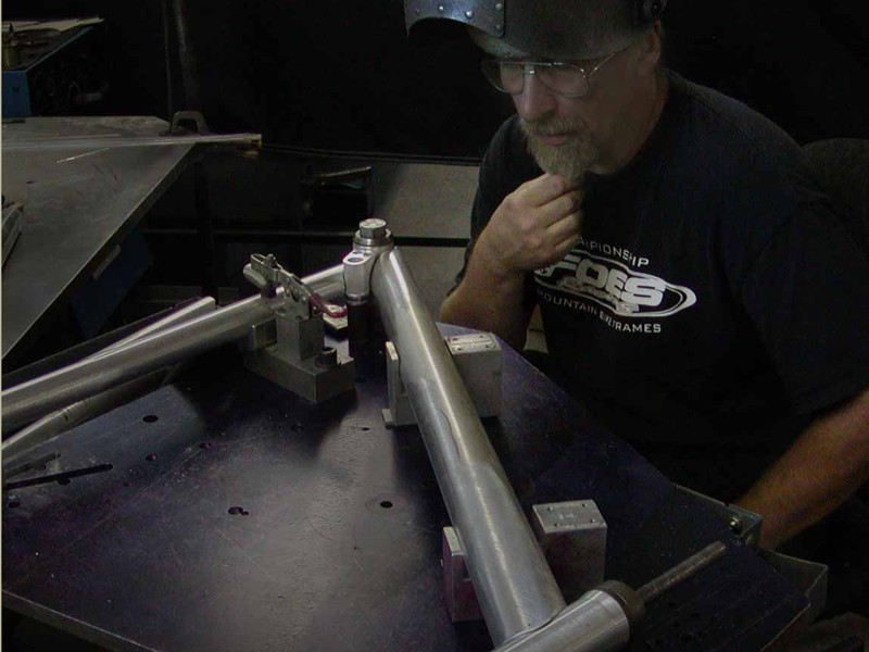 Brent Foes ponders a tricky weld
