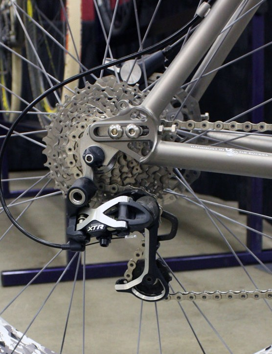 Sliding dropouts make for easy switching between geared and singlespeed setups.