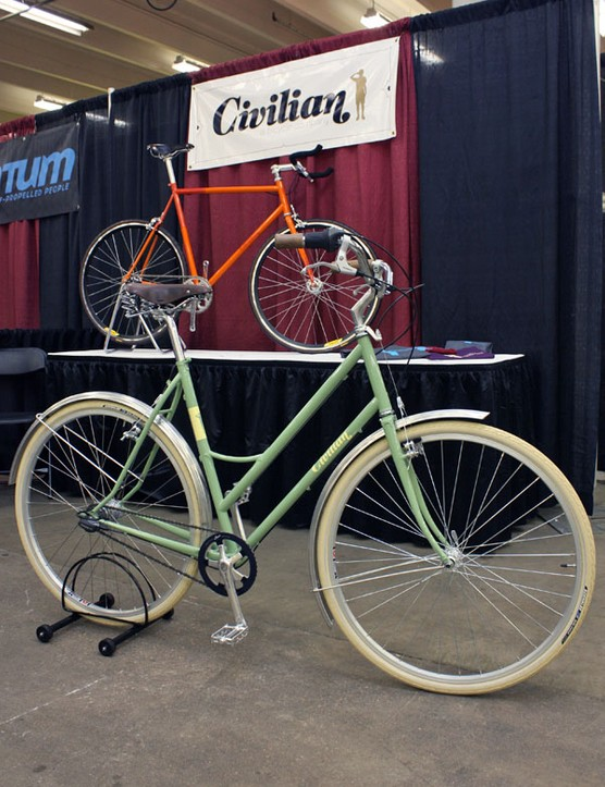 Portland-based Civilian brought along this clean-looking pale green commuter.