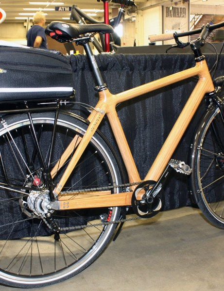 Renovo's Panda commuter is built from laminated bamboo strips.