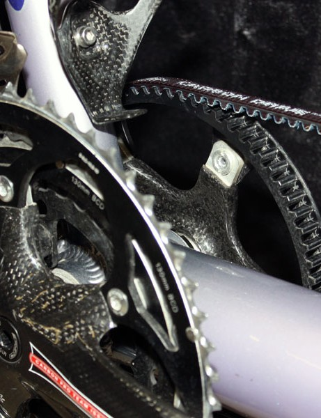 A Gates Carbon Belt Drive system is subbed in for the usual timing chain for improved durability and quieter running.