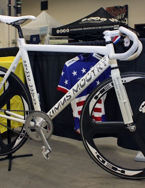 Primus Mootry rider Clark Sheehan used this track bike to score a US National title in the Masters points race.