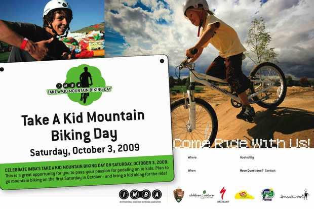 October 3 is International Take a Kid Mountain Biking Day.
