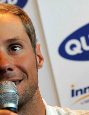 Tom Boonen attends a press conference at Meridien Beach Plaza hotel on July 3, 2009 in the principalty of Monaco, on the eve of the start of the 96th edition of the Tour de France.