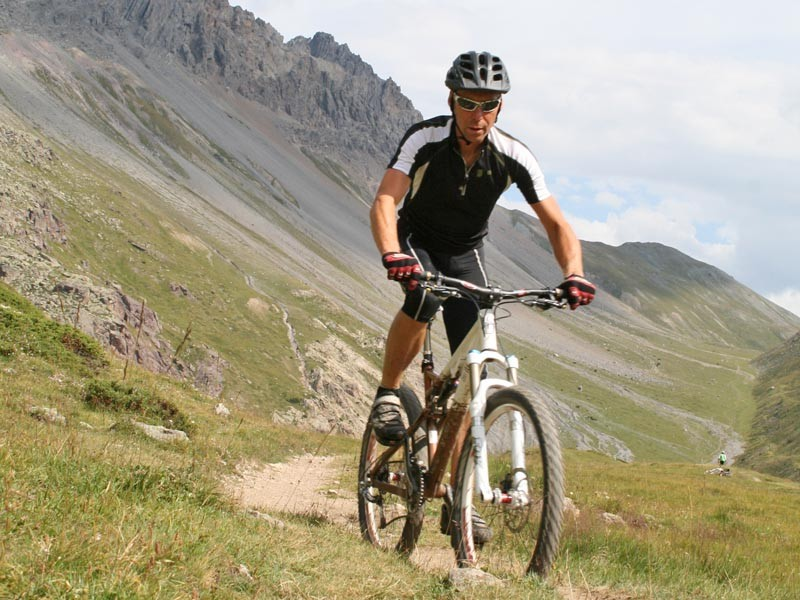 Riding in the amazing Alps