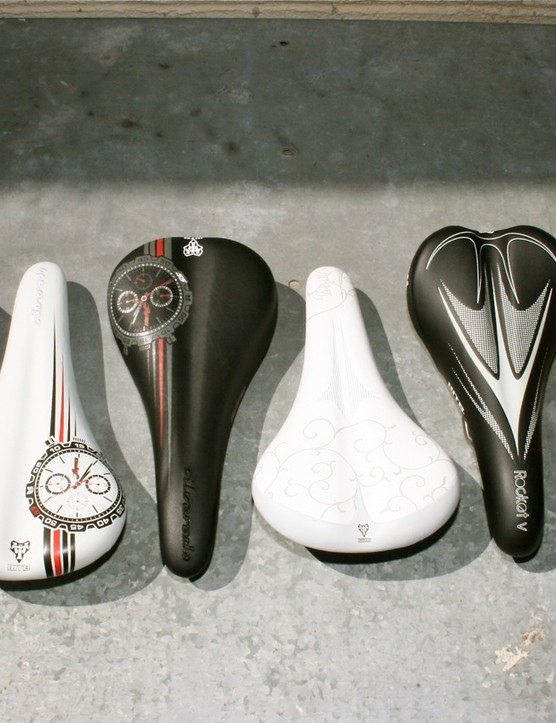 An array of 2010 WTB saddles, something the Mill Valley, California company has been known for more than 20 years.